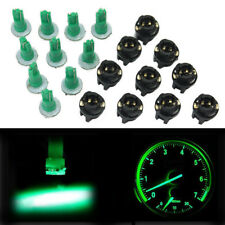 10Pcs PC74 T5 LED Twist Socket Instrument Panel Cluster Green Dash Light Bulb