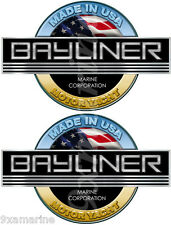 Bayliner Motor Yacht bridge stickers for boat restoration. 7.5 inch long each