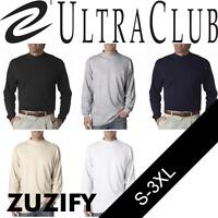 UltraClub Mens Egyptian Interlock Cotton Long-Sleeve Mock Turtleneck. 8510