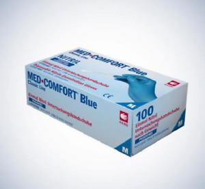 Med-Comfort Blue Premium Nitril-Einweg-/Einmal-Handschuhe Blau XS,S,M,L,XL,XXL