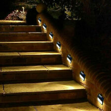 Lot Solar Powered Led Deck Lights Outdoor Path Garden Stairs Step Fence Lamp Us