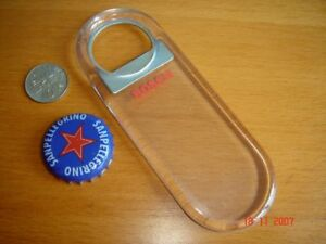 BOSCH Bottle Opener, Transparent Acrylic Plastic, New