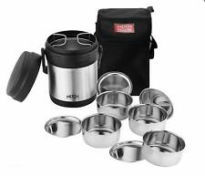 Milton Thermosteel Hot Meal Container Lunch Box Set 4 Pcs With Carry Bag Black