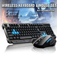2.4G Wireless Gaming keyboard and Mice Set undle Computer PC Multimedia Gamer