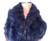 Sexy Blue Icelandic Rabbit Fur Vest (retail £350)