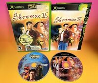 Shenmue II with DVD Movie - XBOX OG Game - COMPLETE Compatible with 360