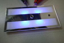 Slimline Rectangle Campervan 12v Dimmable Led Light, Blue/White, Touch Led Light
