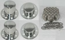 STAINLESS STEEL PACKAGE EAGLE ALLOYS DUALLY WHEEL CENTER CAPS LUG NUTS 14 X 1.5
