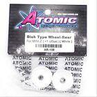 Atomic AR-108 Dish Type Wheel Rear for Mini-Z +1 Offset White