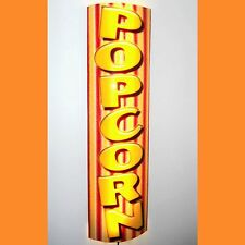 VERTICLE CURVED POPCORN SIGN / STORE SIGN HOME CINEMA LED REMOTE CTRL LIGHTED
