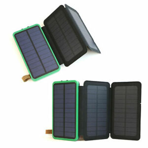300000mAh Solar Power bank 2USB External Battery Charger for all Cell Phones