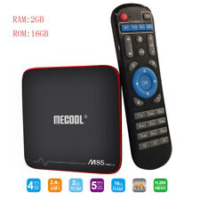 mecool M8s Pro con Android 7.1 TV-Box H.265 2.4ghz Wi-Fi Quad Core 2g + 16G