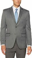 Greg Norman Mens Sport Coat Gray Size 36 Short Performance Two-Button $150 #877