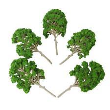 5pcs Plastic Green Model Trees Toy for Railway Train Park Landscape DIY 15cm
