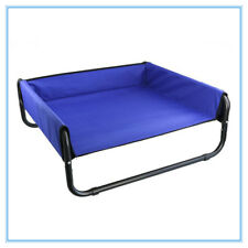 Heavy Duty Elevated Cooling Pet Bed Cot Trampoline for Dogs and Cats 3 Ass Sizes Grey Large (85x85x33cm)