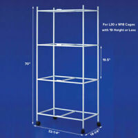 """4-Tiers Stand For 30'x18'x18""""H Aviary Bird Flight Breeding Cages"""
