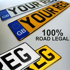 GB euro pressed number plates metal aluminium car van registration UK Road Legal