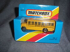 284B Vintage Matchbox 1981 MB 47 Bus School Bus School District 2 USA 1:76
