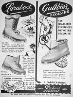 PUBLICITÉ 1954 RICHARD PONTVERT PARABOOT GALIBIER ESCALADE ÉLÉMENTS DE SÉCURITÉ