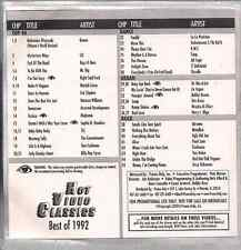 Promo only video classics: Best of 1992 vol.1 QUEEN Boys II men ERIC CLAPTONsnap