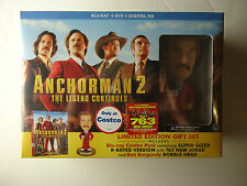 Anchorman 2: The Legend Continues (Blu-ray/DVD, 2014) Costco w/bobblehead NEW