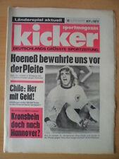KICKER 93 - 15.11. 1973 * Erwin Kremers Deutschland-Schottland 1:1 Kronsbein