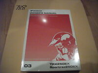 NEW 2003 Honda TRX250EX Sportrax 250EX ATV Owner's Owners Manual SEALED