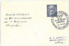 OLYMPICS:  POSTMARK on postcard - GREECE 1954