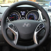 Smooth Leather Steering Wheel Cover for Hyundai Azera Elantra i30 12 13 14 15 16