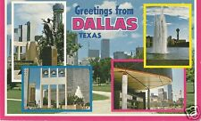Original Vintage 1970s-80s Texas PC- Dallas- Multiple Views of City- Greetings