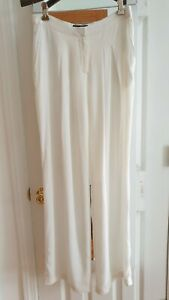 Calvin Klein Runway Collection White Silk Pants Made In Italy 2