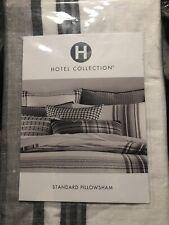 Hotel Collection EURO Pillow Sham Linen Plaid WHITE/BLACK J99003