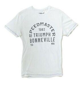 Triumph Motorcycles Alonso Tee Mens Speedmaster Bonneville T-Shirt NEW MTSS18809