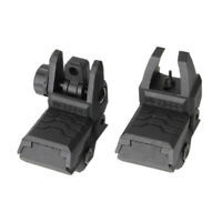 Low Profile Flip-up Metal Tactical Sight Folding Iron Sights Front Rear Hunting