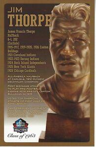 Jim Thorpe Canton Bulldogs  Football Hall of Fame Bust Card