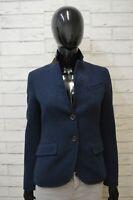 Massimo Dutti Giacca in Lana Donna Taglia S Jacket Woman Blazer Cappotto Blu