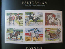 SWEDEN 1990 MINT STAMPS EQUESTRIAN