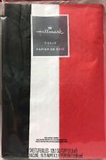 Christmas Gift Tissue Red White And Black Tissue Paper - 36 Sheets New/Package