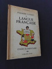 Livre scolaire Premier livret de langue française A Lyonnet 1952