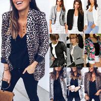 Womens Long Sleeve Blazer Casual Slim Fit Suit Jacket Outwear Business Fashion
