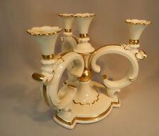 Kerzenleuchter Kandelaber Leuchter Volkstedt Altweiss Gold Barock H 26cm Dm 27cm