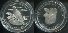 CONGO KONGO 2004 - 1000 Francs in Silber, PP - WILDLIFE HABICHT