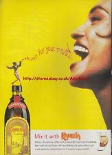 """Kahlua """"Music For Your Mouth"""" 1995 Magazine Advert #1966"""