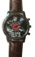Elvis Presley With Guitar Genuine Leather Band Wrist Watch