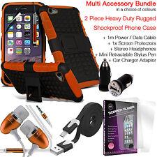 A prueba de choques pesados Doble Capa Carcasa Protectora De Teléfono Paquete de accesorios de valor ✔ ✔ Naranja