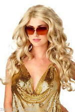 Damen Perücke Lady Gaga Lang Gewellt Blond Sexy Deluxe Haare