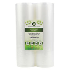 "2 Commercial Bargains 11"" x 50' Vacuum Sealer Saver Rolls Bags Freezer"