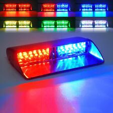 16LED RGB 6-Colors Windshield Emergency Flash LED Strobe Light Dashboard Window