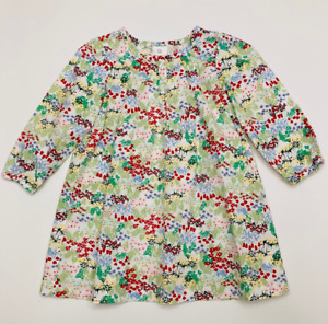 Hanna Andersson 90 Floral Dress Toddler Girl 3T Long Sleeve Cotton