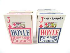Lot of 5 Vintage Hoyle Jumbo Playing Cards USA Travel Games Poker Solitaire